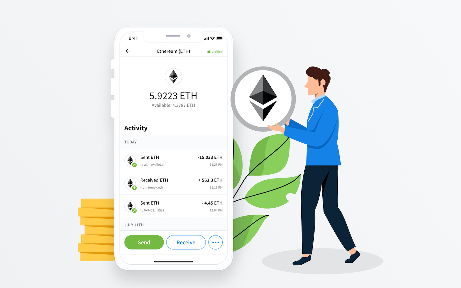 How to buy ETH in AlphaWallet